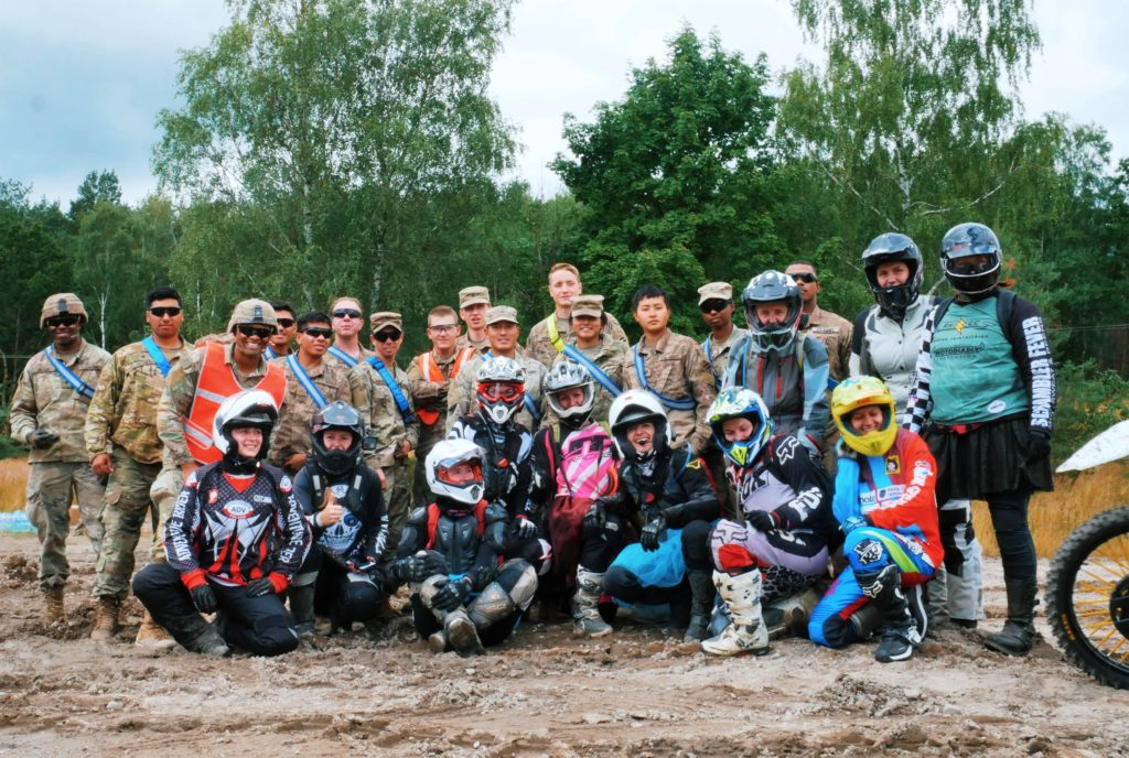 women riders' off-road campout
