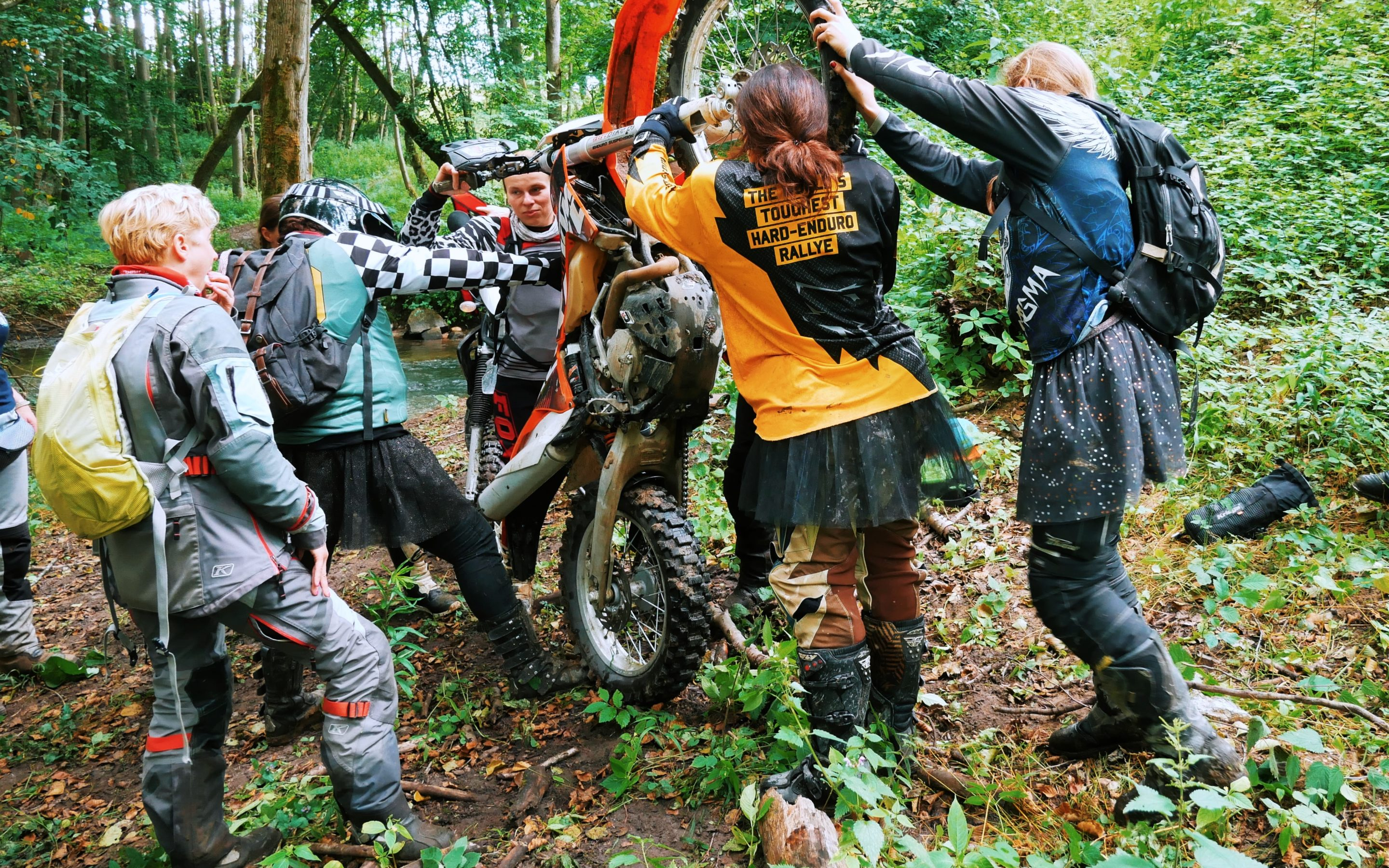 Women Riders' Off-Road Campout: Girls and Their Toys