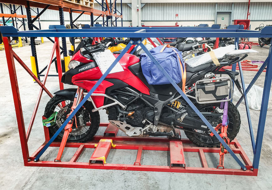 motorcycle transport crate by MotoBirds