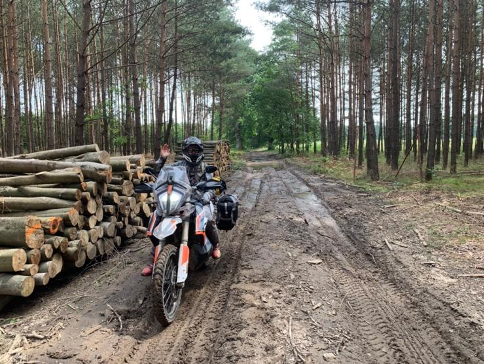 Polish TET offroad woods route
