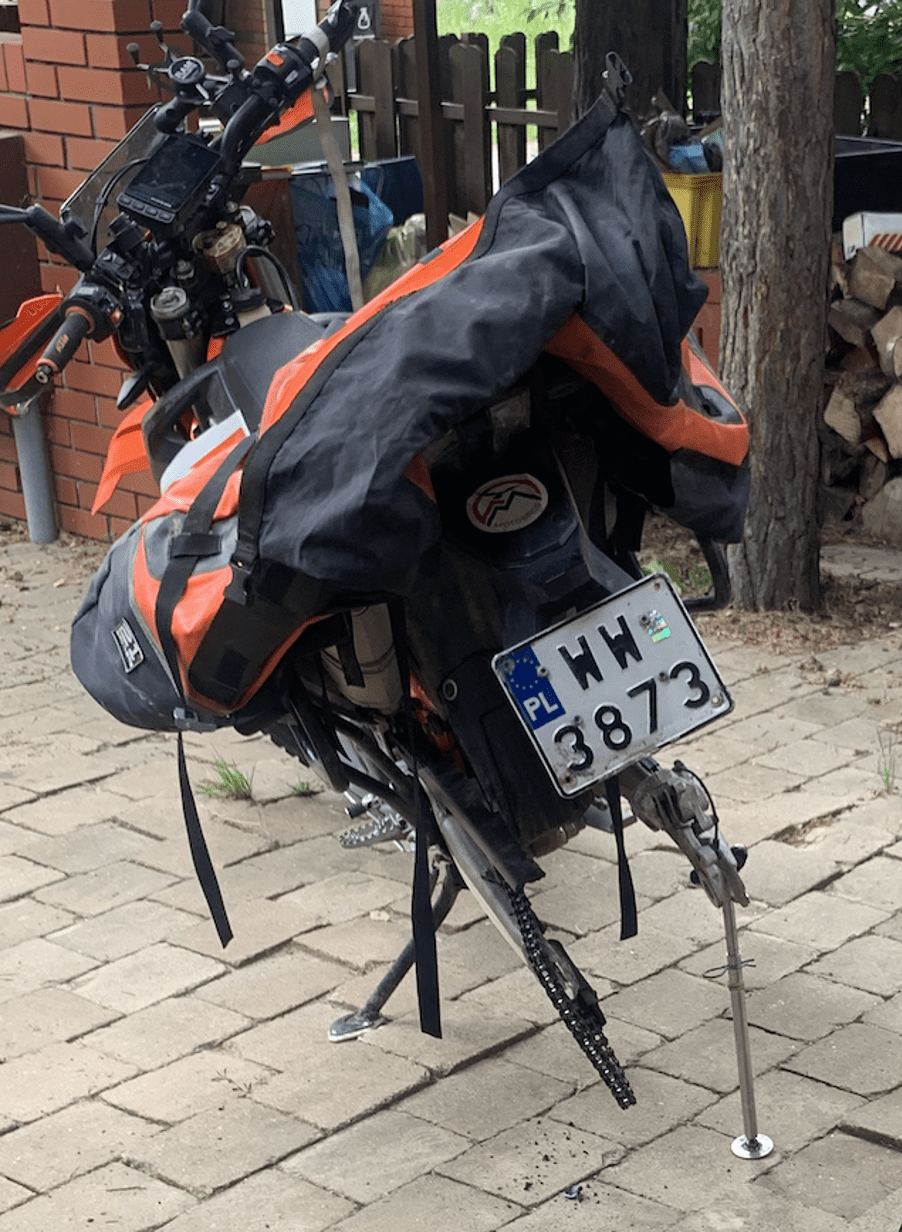 portable motorcycle side-stand MotoBirds